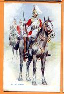 FR243b, Horse, Pferd, Cheval, Cavalier, Soldat à Cheval, Dragon, Guards,Fantaisie, Circulée Sous Enveloppe - Militaria