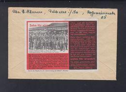 Dt. Reich Propaganda Zettel Fallschirmjäger 1944 Döbeln Nach Prag - Briefe U. Dokumente