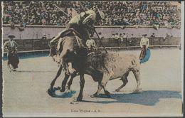 Course De Taureaux, Une Pique, Corrida, C.1920 - A.R. CPA - Corrida