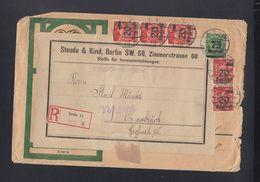 Dt. Reich R-Brief 1923 Berlin Nach Osnabrück - Briefe U. Dokumente