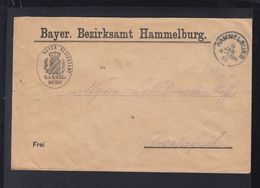Dt. Reich Brief 1923 Hammelburg - Dienstpost