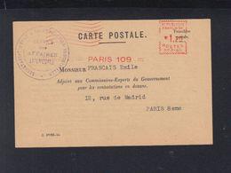 France Carte Postale Secretariat Production Industrielle 1944 - Marcophilie (Lettres)