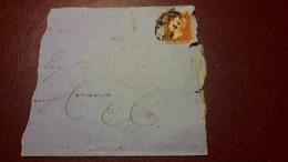 Affrancatura Da 1 Penny Su Frammento Di Busta Con Scritta In Ebraico - Interi Postali