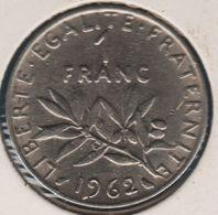 FRANCE 1 Franc 1962 Semeuse KM# 925.1 - Francia