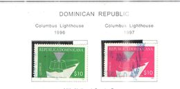 Rep.Dominicana PO 1996+1997 Faro Colombo   Scott.1241+1265 Used See Scan On Scott.Pages - Dominican Republic