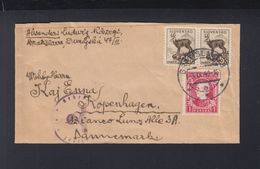 Slovakia Wrapper 1940 To Denmark German Censor - Slovakia