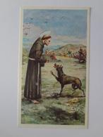 D958- Santino San Francesco D'Assisi E Il Lupo - Images Religieuses