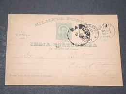 INDE PORTUGAISE - Entier Postal Pour Bombay - L 14389 - Inde Portugaise