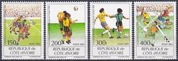 Elfenbeinküste Ivory Coast Cote D'Ivoire 1993 Sport Spiele Fußball Football Soccer USA Qualifikation, Mi. 1101-4 ** - Côte D'Ivoire (1960-...)