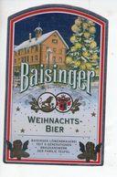 BEER LABEL - BAISINGER LOWENBRAUEREI (ROTTENBERG,GERMANY) - WEIHNACHTS-BIER - Beer
