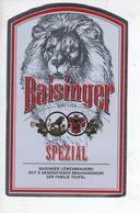 BEER LABEL - BAISINGER LOWENBRAUEREI (ROTTENBERG,GERMANY) - SPEZIAL - Beer