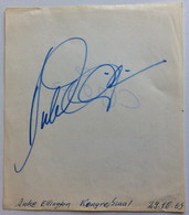 DUKE ELLINGTON Jazz Legend Autograph München Concert Oct. 1969 (autographe Musique - Autographes