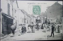 44 OUDON Place De La MAIRIE 1907 ANCENIS CHAMPTOCEAUX CELLIER MAUVES  VARENNE DRAIN - Oudon