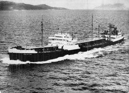 """Cpsm Bateau Navire  Pétrolier Identifié """" Palmyre """" 1946  Construit En 1939 St Nazaire Compagnie Navale Des Pétroles - Tankers"""