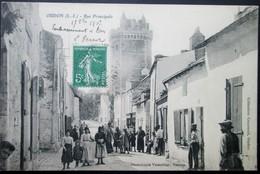 44 OUDON Rue Principale 1907 ANCENIS CHAMPTOCEAUX CELLIER MAUVES  VARENNE DRAIN - Oudon