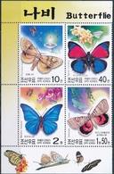 Noord-Korea  Vlinders - Vlinders