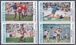 Elfenbeinküste Ivory Coast Cote D'Ivoire 1990 Sport Spiele Fußball Football Soccer Italien Italy, Mi. 1014-7 ** - Côte D'Ivoire (1960-...)