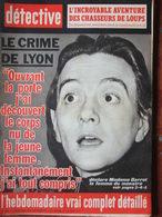 Détective N°870 (1er Mars 1963) Crime De Lyon - Chasseurs De Loups - Diaboliques Valenton - Procès Blémond - Nancy - Boeken, Tijdschriften, Stripverhalen