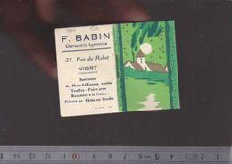 Calendrier Almanach  - Petit Format - 1940 - Charcuterie Babin à Niort - Petit Format : 1921-40