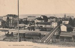 74/ Thonon Les Bains - Vue Générale De La Gare Et De La Passerelle - Thonon-les-Bains