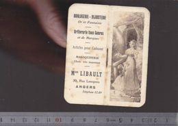 Calendrier - Petit Format - 1927 - Horlogerie Libault à Angers - Small : 1921-40
