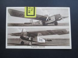 DR 1928 AK 2 Lufthansa Flugzeuge Feldberg U. Leine. Hannover Flughafen. Mit Luftpost Befördert P.A. Düsseldorf 1 - Briefe U. Dokumente