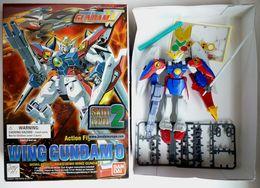 Boîte WING GUNDAM 0 MOBILE SUIT BANDAI 1 1/144 XXXG-00W0 Avec Boîte Figurine Montée - Figurines