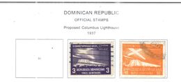 Rep.Dominicana Official 1937 Fari Colombo   Scott O16/17  Used See Scan On Scott.Pages - Dominicaine (République)
