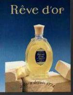 Calendrier   Carte Parfumée  L T PIVER     REVE D'OR   1995 - Perfume Cards