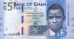 GHANA 5 CEDIS 2017 P-43a COMMEMORATIVE [GH153a] - Ghana