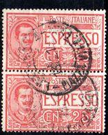 XP3736 - REGNO 1920 , Espresso N. 1  Usato : Coppia - 1900-44 Vittorio Emanuele III