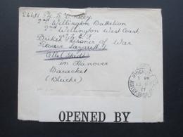 GB 1917 Prisoner Of War Wellington Batallion Baracke 1 (Bleiche) Celle / Hannover. Censor P.W. 558 - 1902-1951 (Könige)