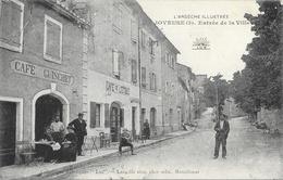 Joyeuse (L'Ardèche Illustrée) - Entrée De La Ville, Café De L'Etoile, Guischet - Collection Lux, Edition Lang - Joyeuse