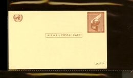 1957 - VN/UNO New York 4c Postal Card - Airmail [R11933] - New York - Hoofdkwartier Van De VN
