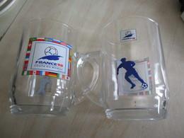 2 Verres à Bière Coupe Du Monde France 98 Football - Football
