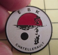 PIN713a Pin's Pins / De Belle Qualité Et Rare : SPORTS : JUDO KARATE CLUB EBK CHATELLERAULT - Judo