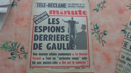 """Journal """"Minute"""" D'avril 1968 Les Espions Derriere Le Général De Gaulle - Giornali"""