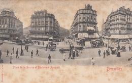 BRUXELLES / BRUSSEL / PLACE E LA BOURSE ET BOULEVARD ANSPACH / TRAM /  TRAMWAYS - Marktpleinen, Pleinen