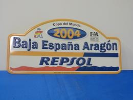 "Plaque De Rallye ""BAJA ESPANA ARAGON"" 2001 Copa Del Mundo Cross Country - Rallye (Rally) Plates"