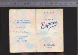 Calendrier - 1956 - Parfum Espace Cheramy - Calendriers