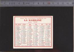 Calendrier - 1949 - Teinture La Kabiline - - Calendriers