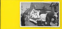 HAGUENAU Carte Photo Char Fleuri (Wunderlich) Bas Rhin (67) - Haguenau