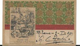 Cartolina Commemorativa Delle 5 Giornate Di Milano - Perfetta Viagg - Manifestazioni