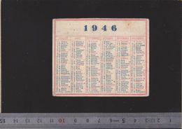 Calendrier - Patit Format - 1946 - Calendriers