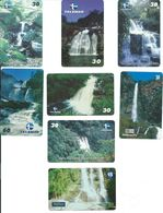 8 Télécartes Brésil Cascade (D 289) - Paysages