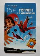 France Telecarte Phonecard Mobicarte Recharge Mobilis Orange - C'EST PARTI !  DEVENEZ RAID - Cinema Gaumont, - France