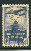 France  Airplane And Galleon  SC# C16  Used  1936 - Airmail