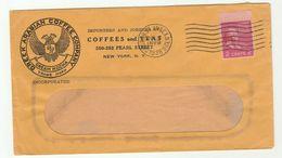 1938 USA Illus ADVERT COVER Greek Arabian COFFEE Co BIRD HERALDIC LION EMBLEM Pic , Drink Stamps - Drinks