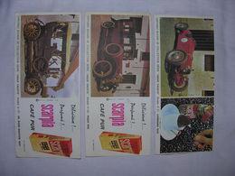 LOT : 3 Buvards VIEUX TACOTS, Café Scarpia - Automobile