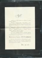 Tilly Sur Meuse -  F.P. Décés De Mr Louis Puivarges  Le 12/04/1914   -  Aw13701 - Décès